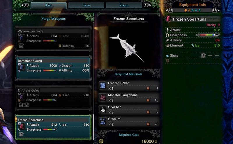 Гайд MHW Iceborne - Как разблокировать ледяной меч Speartuna