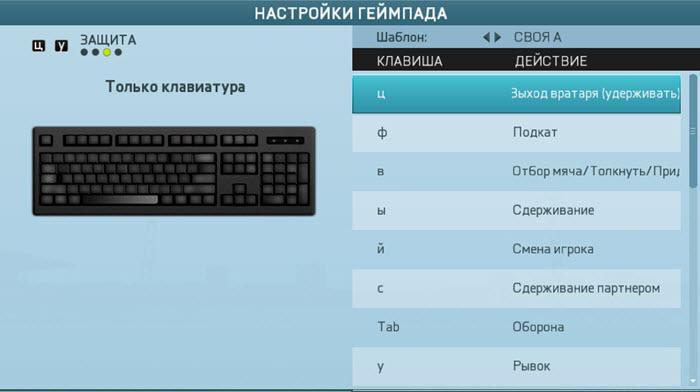 управление на клавиатуре fifa 13 патч