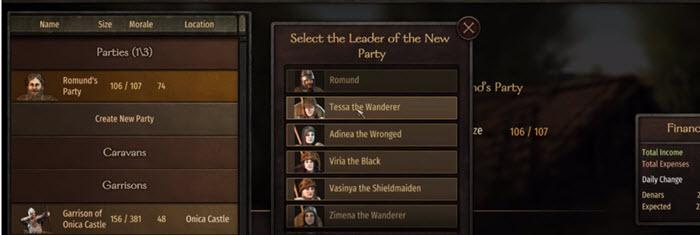Гайд Mount and Blade 2: Bannerlord - Напарники (компаньоны)