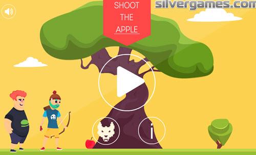 Попасть из лука в яблоко