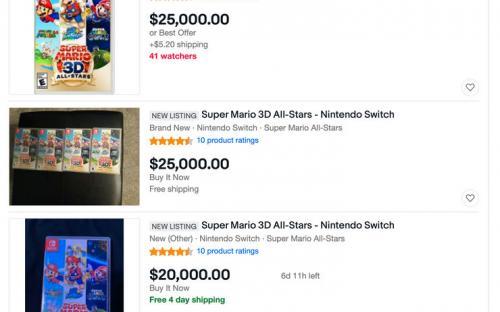 Super Mario 3D All-Stars дал повод спекулянтам сойти с ума