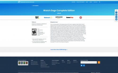 На ESRB засветилась Watch Dogs Complete Edition