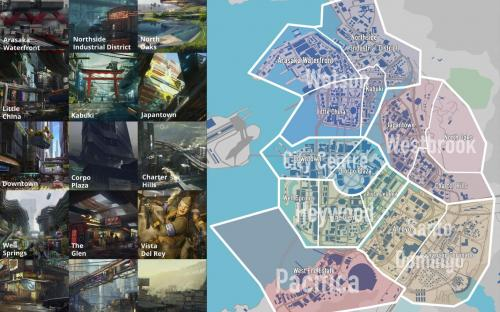 Cyberpunk 2077: 15 районов и Хидео Кодзима на мотоцикле