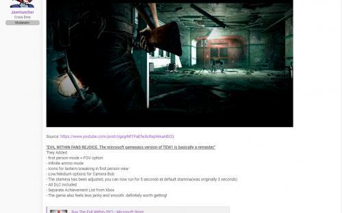 The Evil Within в Xbox Game Pass назвали фактическим ремастером