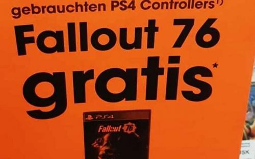 Fallout 76 дарят за покупку подержанного контроллера