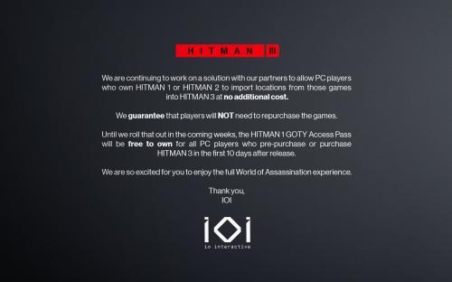 Hitman 2 раздадут в Epic бесплатно? В Epic Games реагируют на скандал