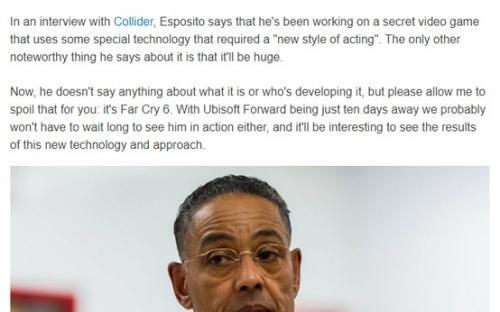 Слух: секретной игрой с Джанкарло Эспозито будет Far Cry 6