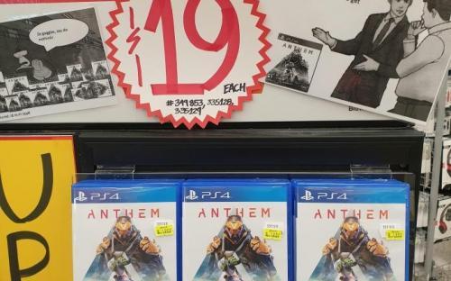 Anthem раздают почти бесплатно. Магазины не знают, что делать с запасами дисков