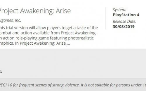 Project Awakening готовится к релизу. Игру оценили цензоры