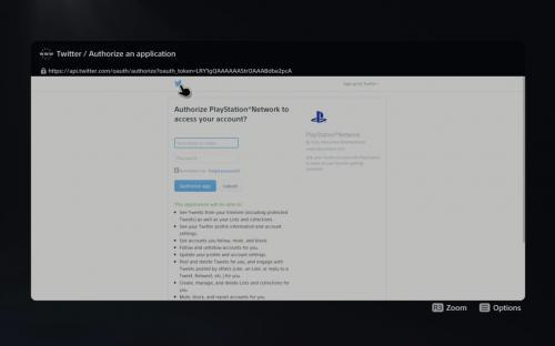 Секретный браузер PS 5 пустит вас лишь в Твиттер