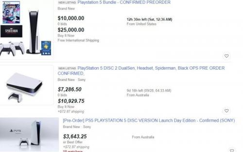 PlayStation 5 активно перепродают за астрономические суммы