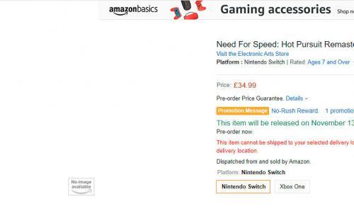 Ремастер Need for Speed: Hot Pursuit может выйти в ноябре
